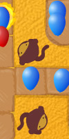 GAME Bloons Tower Defense 2 TAGS bloonstd2, bloonstowerdefense2, ninjakiwigames, baloons, pop, spikes, towers, monkey
